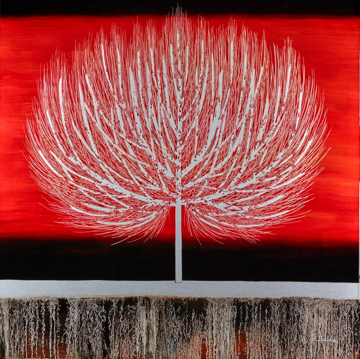 Sunset Red IV by nakisa seika -  sized 36x36 inches. Available from Whitewall Galleries
